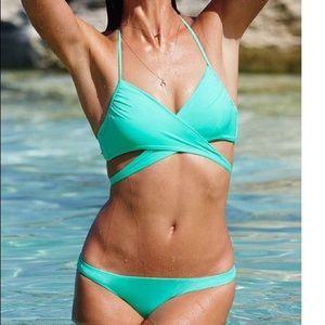 NWT Victoria's Secret Wrap Halter Swim Suit 34B